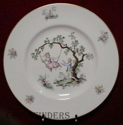 """ROYAL WORCESTER china WATTEAU pattern Dinner Plate 10 1/2"""""""