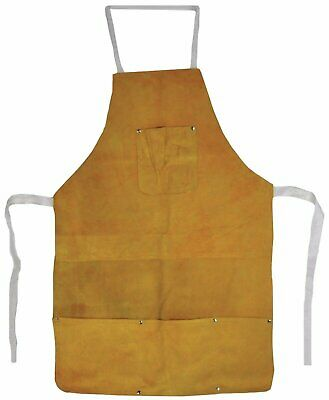 Leather Heat-Resistant Safety Apron Welding Bib Melting Refining Gold Silver 32""
