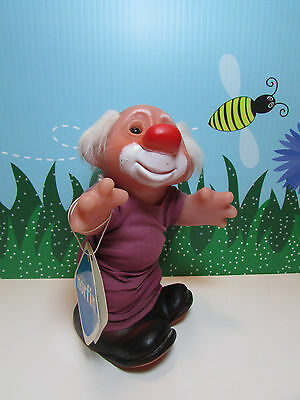 """1988 JESTER  WITH HANG TAG - 7"""" DAM Troll Doll"""