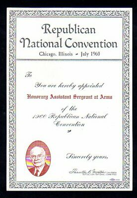 1960 Republican National Convention Certificate