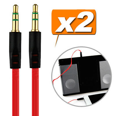 2X 3.5mm Stereo AUX Auxiliary Cable Cord for iPod iPhone MP3 Car