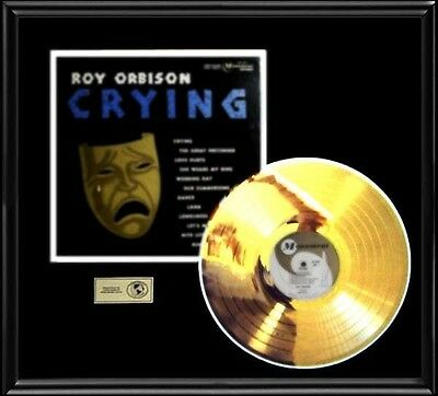 Roy Orbison Crying Rare Gold Record  Disc Lp Album Frame