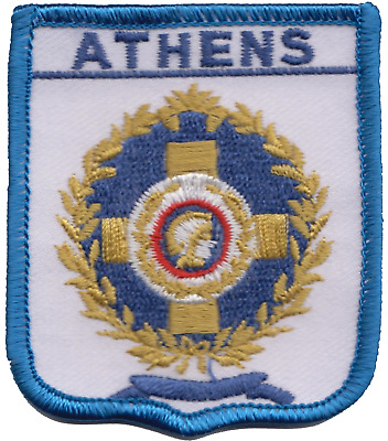 Greece Athens City Seal Shield Embroidered Patch Badge