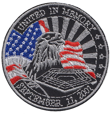 911 Memorial Twin Towers Embroidered Patch Badge