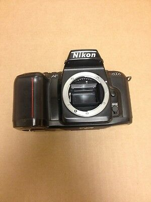 Nikon N6006 35mm SLR Film Camera Body Only Broken Door At Latch Otherwise Great