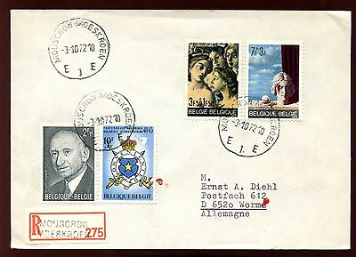 Belgium 1972 Registered Cover To Germany #C10342