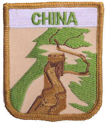 China Great Wall Flag Embroidered Patch Badge