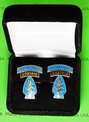 SPECIAL FORCES AIRBORNE Army Cuff Links in presentation gift box -cufflinks
