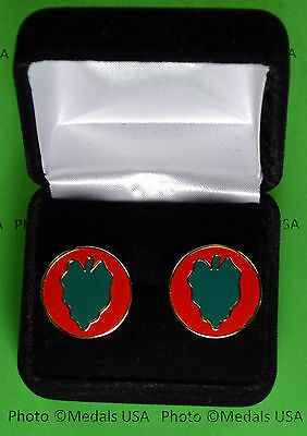 24th Infantry Division Army Cufflinks