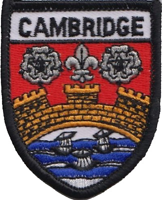 Cambridge Cambridgeshire Flag Embroidered Patch Badge