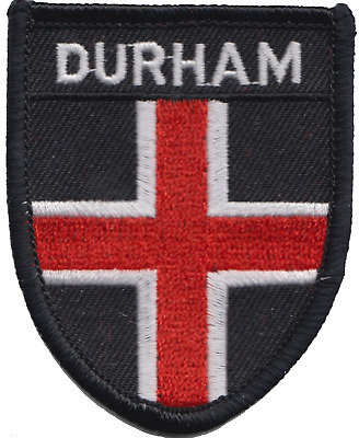 Durham City Durham County Shield Flag Embroidered Patch Badge