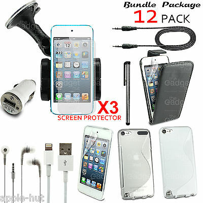 12 X Accessory Bundle Case Car Holder Charger Kit For Apple Ipod Touch 5/5Th Gen