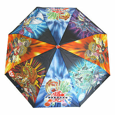 Bakugan Kids Umbrella Perletti Boys Brolly Rain Childrens Wind Resistant Blue
