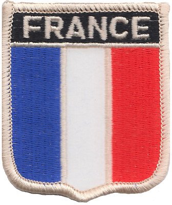 France Flag Shield Embroidered Patch Badge