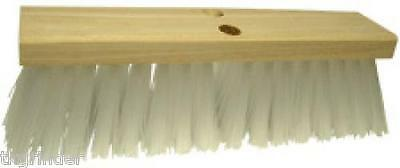 "The Brush Man ST7166 Stiff White Synthetic Street Broom (7166) 16"" Long 4"" Trim"
