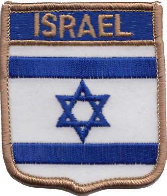 Israel Flag Shield Embroidered Patch Badge