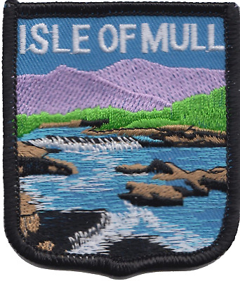 Isle of Mull Scotland Flag Embroidered Patch Badge