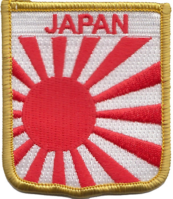 Japan Rising Sun Navy Ensign Flag Embroidered Patch Badge