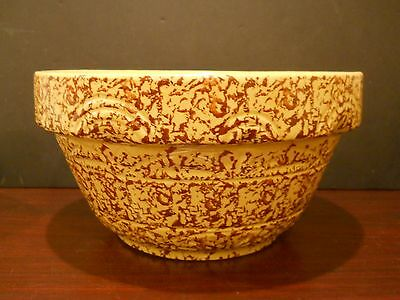 Robinson Ransbottom R R P Pottery Exclusive C P C Roseville Oh Sponged Bowl