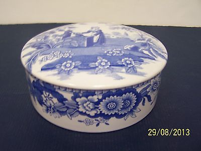 Spode Blue Room Collection Round Covered Box