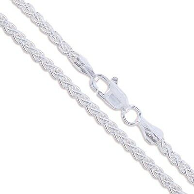 """20"""" Sterling Silver Spiga Necklace Wheat Rope Chain Pure 925 Italy New Wholesale"""