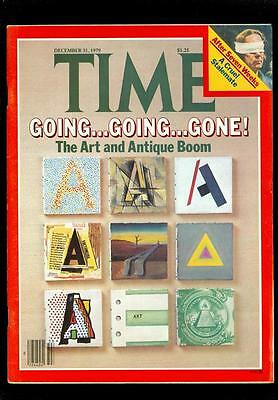 1979 Time Magazine: The Art And Antique Boom/ Stalemate-Held Hostage For u7i8