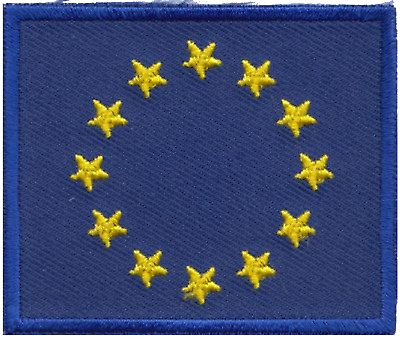 European Union EU Flag Embroidered Patch Badge