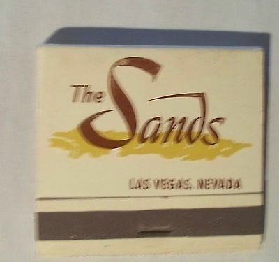 Sands Hotel Casino A Place In The Sun Front Striker Theme Ads Inside Matchbook