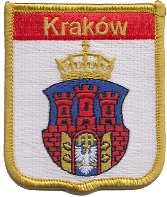 Poland Kraków City Coat of Arms Shield Embroidered Patch