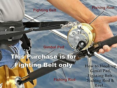 Jaws Ultimate Fighting Belt reel Harness for Big game Jigging Fishing Rod size L