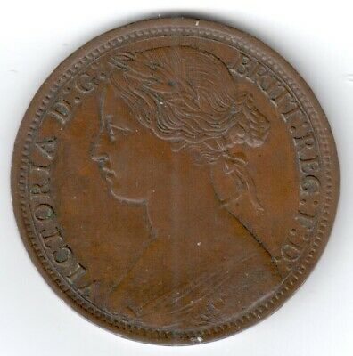 1861 EXTREMELY FINE Great Britain Penny #1