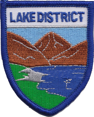 Lake District Cumbria County Flag Embroidered Patch Badge