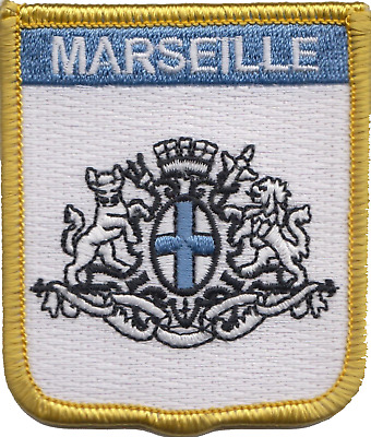 France Marseille City Crest Embroidered Patch Badge
