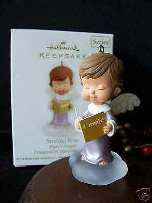 Hallmark Ornament 2012 Sterling Rose  Mary's Angels #25 in the Series
