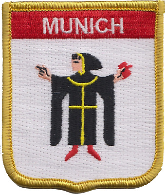 Germany Munich Crest Shield Embroidered Patch Badge