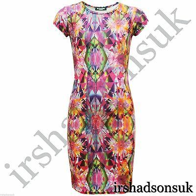 Kids Girls Colourfull Aztec Tribal Print Stylish Fashion Midi Dress 7-13 Years