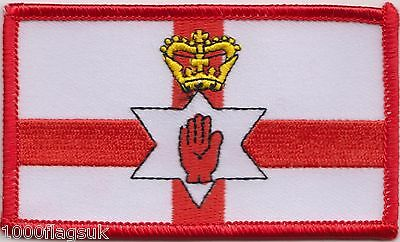 Northern Ireland Flag Rectangular Embroidered Patch Badge