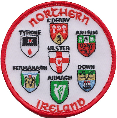 Northern Ireland 6 County Flag Embroidered Patch Badge
