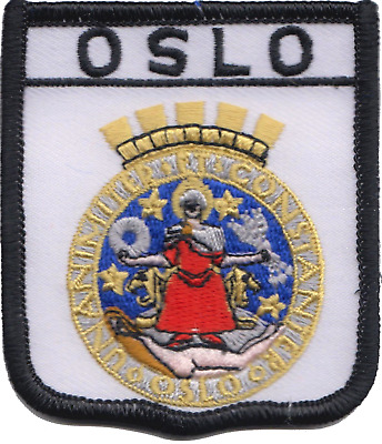 Norway Oslo City Coat Of Arms Shield Embroidered Patch Badge
