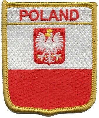 Poland Eagle Flag Shield Embroidered Patch Badge