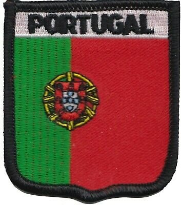 Portugal Flag Shield Embroidered Patch Badge