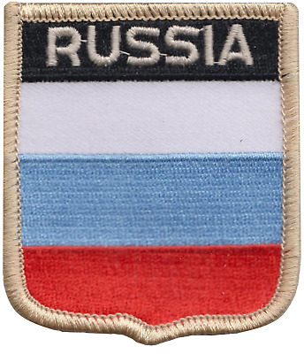 Russian Federation Russia Flag Embroidered Patch Badge