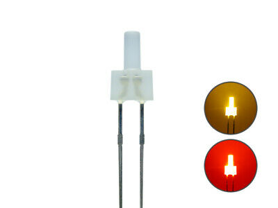 S658 10 Stk DUO Tower LEDs 2mm Bi-Color gelb rot diffus Lichtwechsel Wendezug