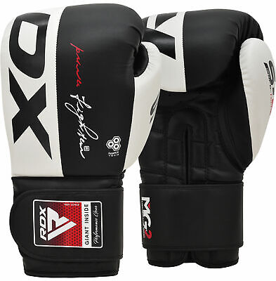 RDX Boxing Gloves Leather Gel Punching Fighting MMA Muay Thai Grappling CA