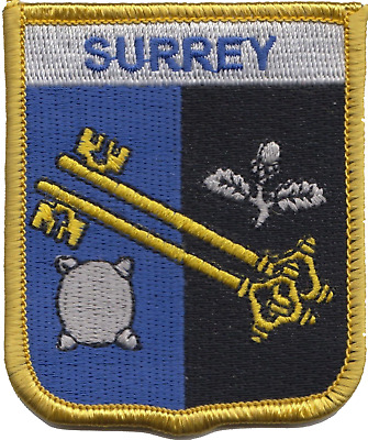 Surrey County Flag Embroidered Patch Badge