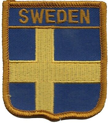 Sweden Flag Shield Embroidered Patch Badge