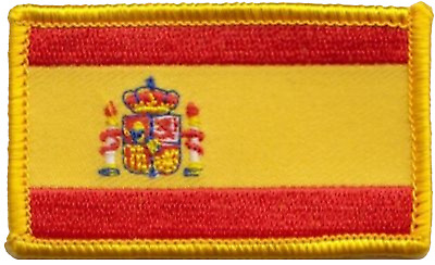 Spain State Flag Small Rectangular Embroidered Patch Badge