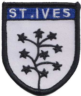 St. Ives Cornwall County Flag Embroidered Patch Badge
