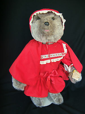 "VINTAGE but NEW TILLY COLLECTIBLES Wolf in Red Ridding Hood LiL Red 28"" tall NWT"