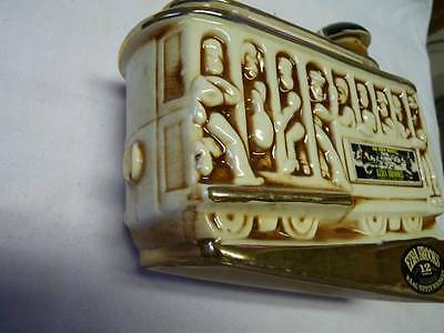 Ezra Brooks 1968 Powell & Hyde Street Car Trolley Whiskey Decanter